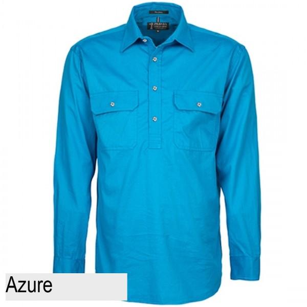 Ritemate Pilbara CLosed Front Shirt - Azure
