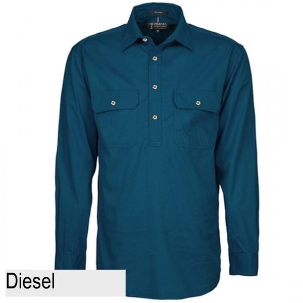 Ritemate Pilbara CLosed Front Shirt - Diesel