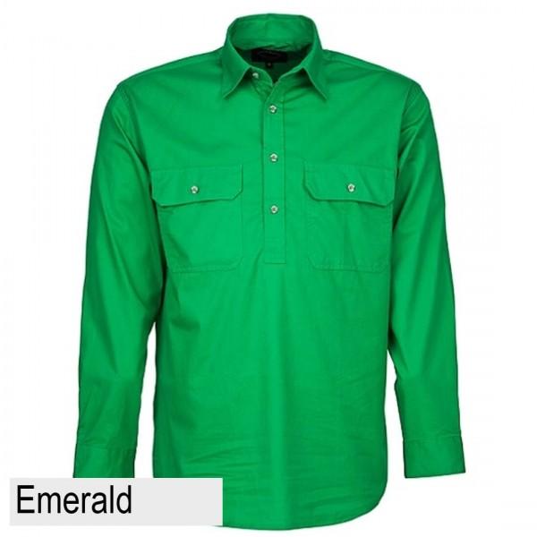 Ritemate Pilbara CLosed Front Shirt - Emerald