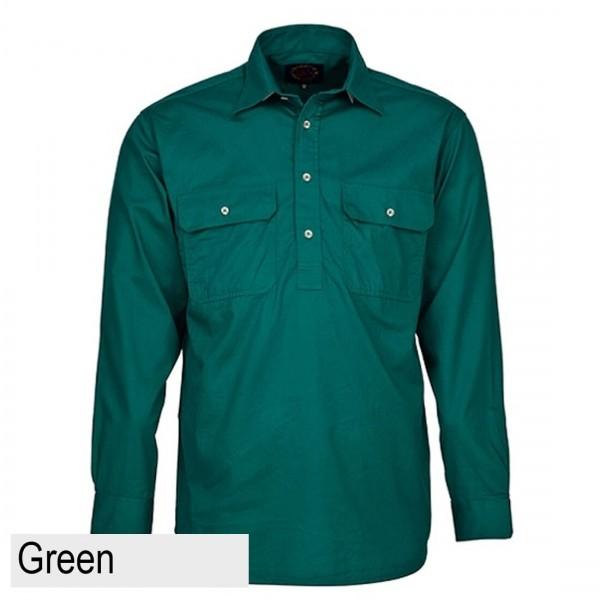 Ritemate Pilbara CLosed Front Shirt - Green