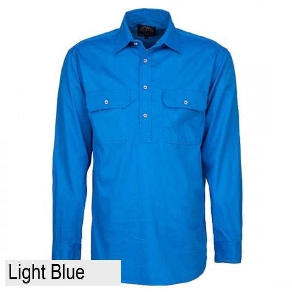 Ritemate Pilbara CLosed Front Shirt - Light Blue