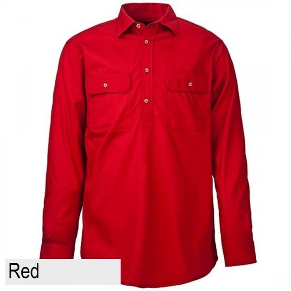 Ritemate Pilbara CLosed Front Shirt - Red