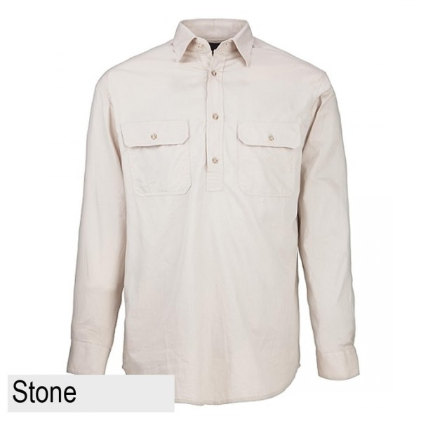 Ritemate Pilbara CLosed Front Shirt - Stone