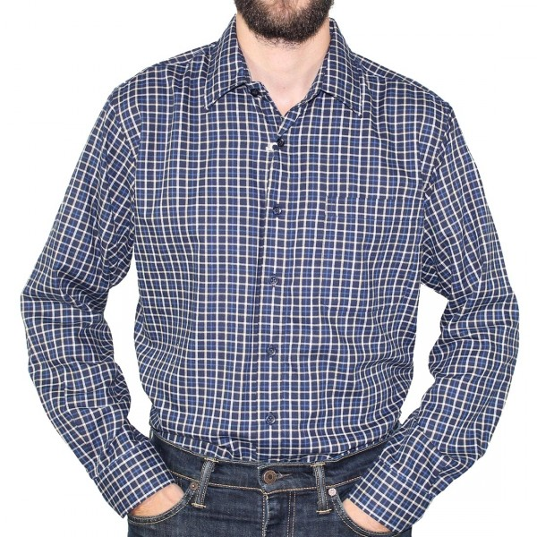 Country Look Long Sleeve Romney Shirt Navy