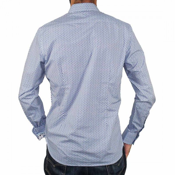 James Harper Long Sleeve Rowe Turtle Geo Shirt Back