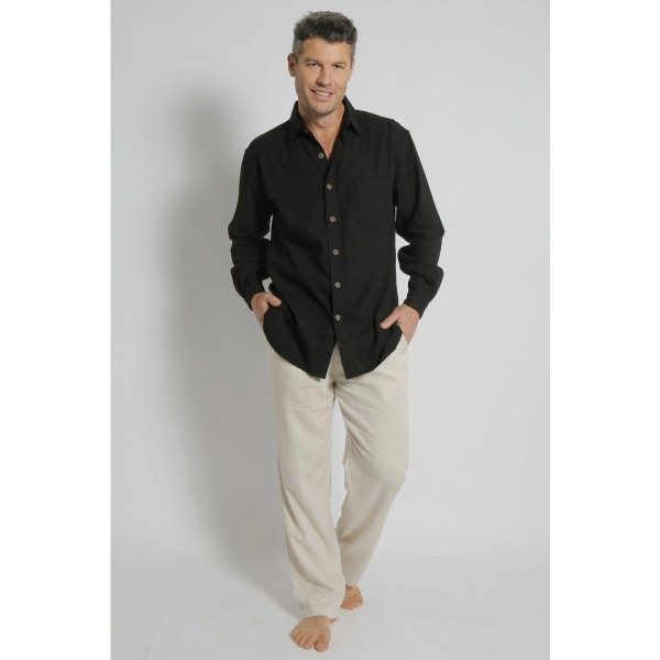 Braintree Hemp/Rayon Relaxed Fit Long Sleeve Shirt - 4 Colours Available