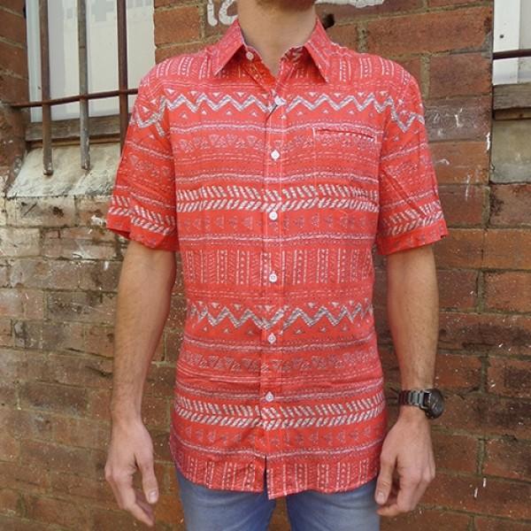Berlin Short Sleeve Aztec Print Shirt