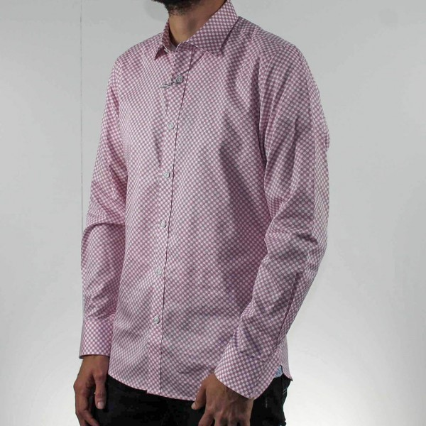 James Harper Long Sleeve Saxon Circle Shirt  Side