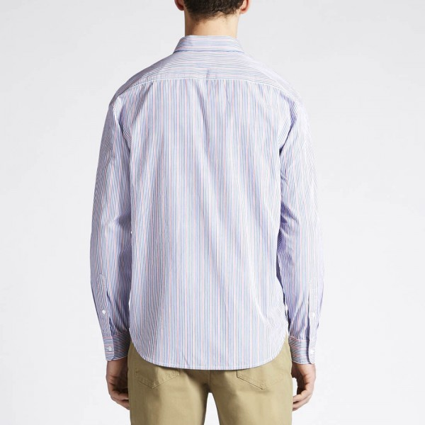 RM Williams Blue And Red Striped Bourke Shirt