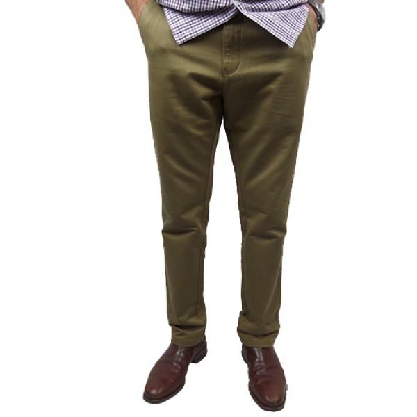 Nickel Side Pocket Slim Fit Pant In Beige
