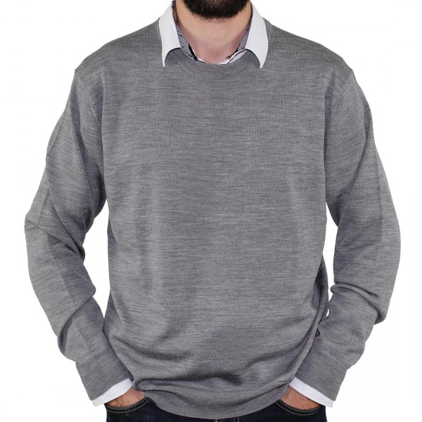 Sovrano Crew Neck Pullover Silver