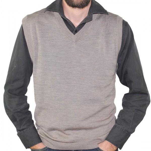 Sovrano Merino Wool Vest Taupe
