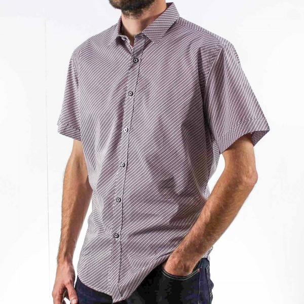 AK Demire Short Sleeve Squares Shirt Side