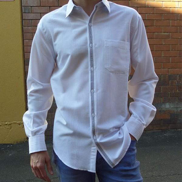 Perrone White 'Steve' Long Sleeve Striped Shirt