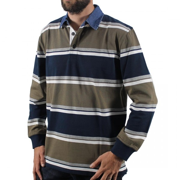 Back Bay Stripped Rugby Top