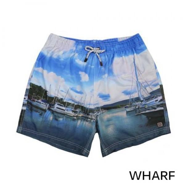 IslandHaze Elastic Waist Beach Shorts