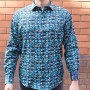 David Smith Long Sleeve Aqua Shirt