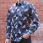 John Lennon By English Laundry Long Sleeve Hucknall Paisley Print Shirt
