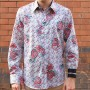 John Lennon By English Laundry Long Sleeve South World Print Shirt