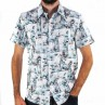 John Lennon By English Laundry Short Sleeve Derby Shirt Front