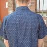 Maurio Navy Paisley Short Sleeve