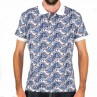 Cutler & Co Pacific Knit Short Sleeve Polo Front