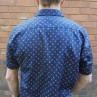 AK Demire Short Sleeve Navy Feather Shirt