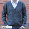 Anset Acrylic Wool Zip-up Cardigan Granite Front