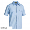 Bisley Permanent Press Short Sleeve Shirt Skyblue
