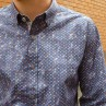 Carlo Cimino Navy Heart Long Sleeve Shirt