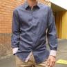 Carlo Cimino Military Blue Long Sleeve Shirt