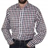 Bisley Long Sleeve Check Cotton Shirt Navy