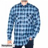Ritemate Long Sleeve Open Front Flannelette Shirt-Front