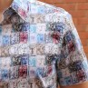 John Lennon By English Laundry Short Sleeve Chesil Print Shirt Close