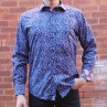 David Smith Blueberry Print Long Sleeve Shirt Front