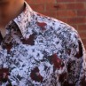 John Lennon By English Laundry Long Sleeve Martin Print Shirt Front Close