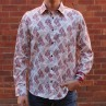 John Lennon By English Laundry Long Sleeve Cooper Print Shirt - Front