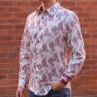 John Lennon By English Laundry Long Sleeve Cooper Print Shirt - Side