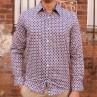 John Lennon By English Laundry Long Sleeve Square Print Shirt