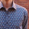 Berlin Stud Print Long Sleeve Shirt Close