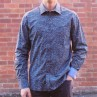Berlin Dobby Stripe Print Long Sleeve Shirt Front