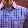 Berlin Check Print Long Sleeve Shirt Close