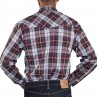 Long Sleeve 2PKT Western Shirt - Burgundy -Back