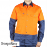 Ritemate heavyweight long sleeve shirt orange front
