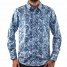 John Lennon By English Laundry Long Sleeve Paisley Shirt Front