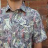 Berlin Short Sleeve Leave Print Shirt