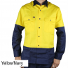 Ritemate heavyweight long sleeve shirt yellow front